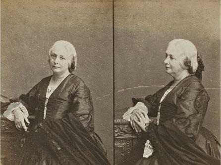 Double portrait de Juliette Drouet par Arsène Garnier, 1868