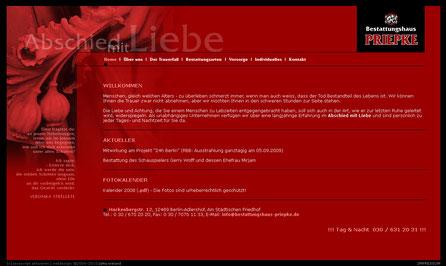 Bestattungshaus Priepke Website