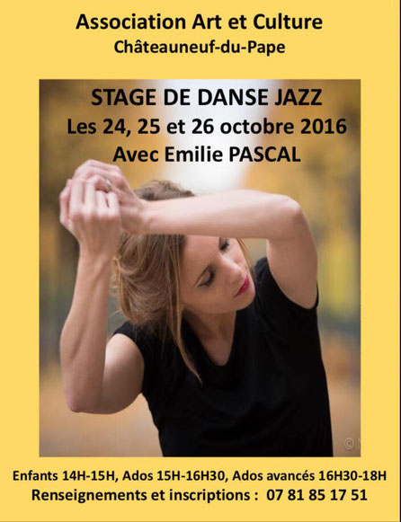 Affiche stage de Danse Stage/ass arts et culture