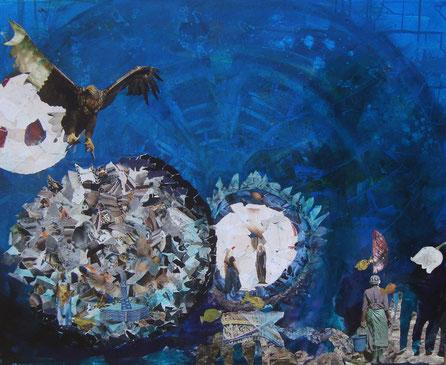 Das Eine, Collagen Kunst Susanne Ercetin, Olching