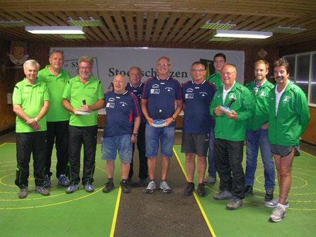 Turnier 21. Juni 2016 -  3. ATSV Lenzing, 1. ATSV Timelkam, 2. ESV Bad Goisern
