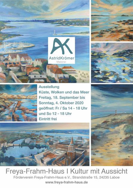 Ausstellung im Freya-Frahm-Haus , www.astrid-kroemer-malerei.de
