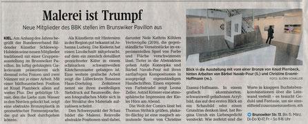Kieler Nachrichten: Ausstellung Neue Mitglieder Brunswiker Pavillon