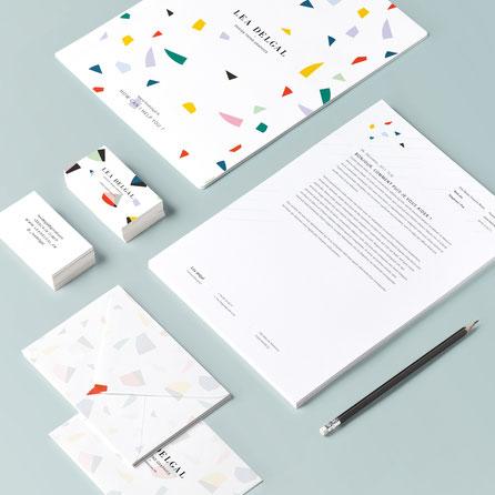 identité visuelle designer lea delgal design graphiste france italie freelance