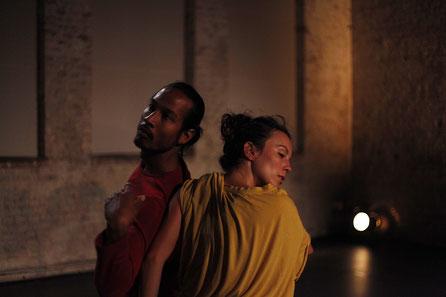 displacement, Choreography R. Reniers, Dancers: Ruben Reniers, Ana Dordevic, Photographer: C. Collado, 2018