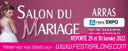 Salon du Mariage d'Arras 30 et 31 Janvier 2021