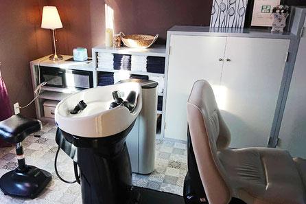 美容室ひがのシャンプールーム