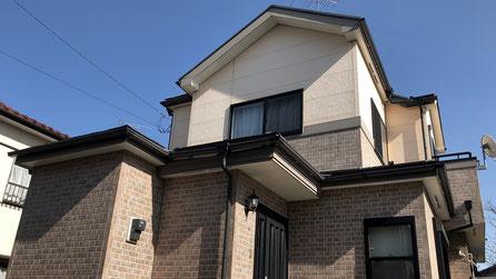 鴻巣市の戸建住宅、外壁塗装・屋根塗装工事前の写真