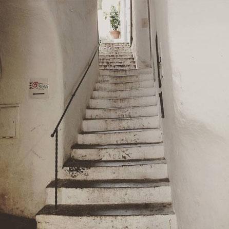Amalfi : Venelles et volée d'escaliers