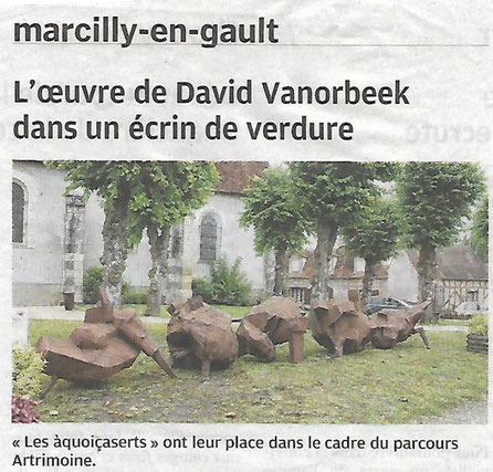 SCULPT'EN SOLOGNE David Vanorbeek sculpteur Biennale en France