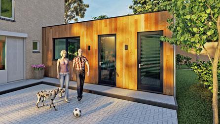Moderne aanbouw met hardhout | Vlissingen, Zeeland