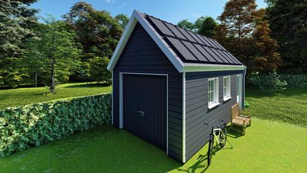 Garage met zonnepanelen | Wolphaartsdijk, Zeeland