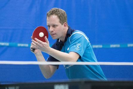 Kapitän Andreas Wibbe überzeugte am Samstag im Doppel an der Seite von Emilo Schulz.