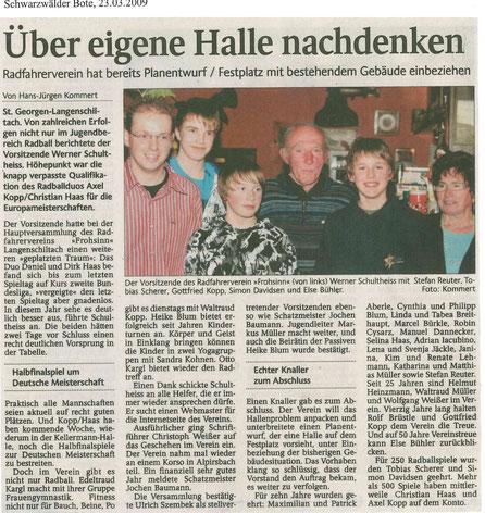 Schwarzwälder Bote 21.03.2009 (Anklicken zum Vergrößern)