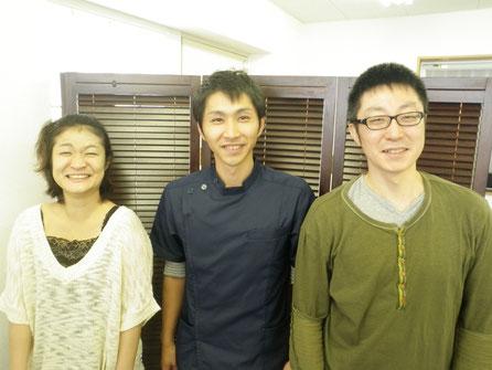 左から金田先生・梅澤・塩野先生