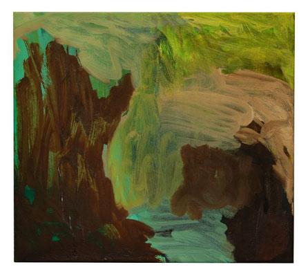 Ohne Titel, Öl-Lw, 45x50 cm, 2013