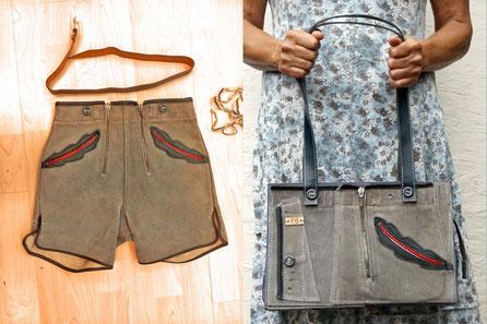 Trachtentaschen aus alten Lederhosen