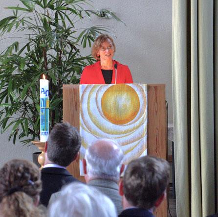 Gießens Oberbürgermeisterin Dietlind Grabe-Bolz am 3.9.2017 in der Andreasgemeinde // Foto: Schmidt