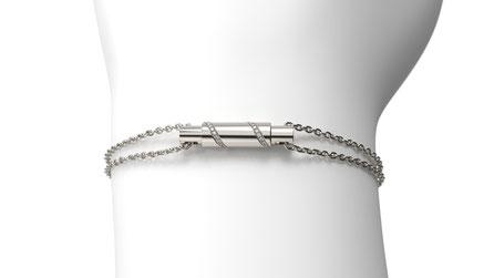 Bracelet galaxy en or et diamants. La fabrication est française.