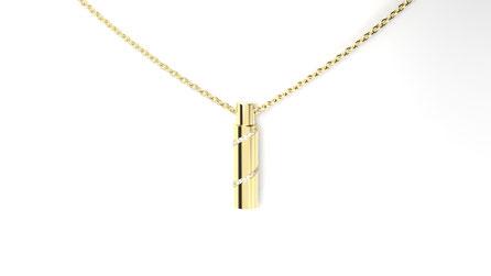 Pendentif galaxy en or et diamants. La fabrication est française.