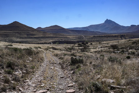 Path, road, gravel, street, mountains, grass, dry, landscape, Compass Mountain, South Africa.