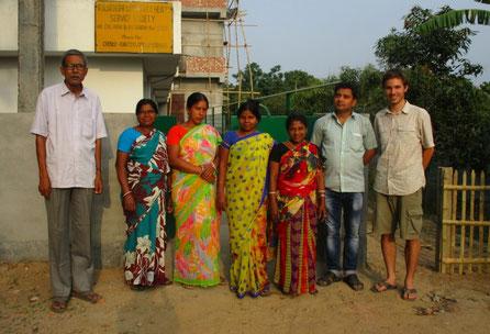 L'équipe de projet à Eklakhi (West-Bengal, Inde du Nord)