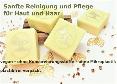 Handgemachte Seifen für Haut und Haar, vegan - palmölfrei - ohne Konservierungsstoffe