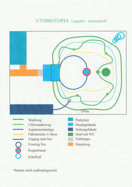 Lageplan UTOBIOTOPIA schematisch