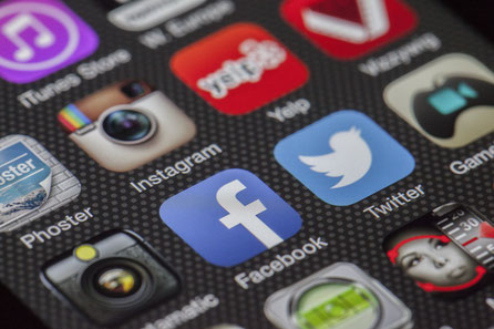 App Social Media Content Handy Profil Instagram Facebook Twitter