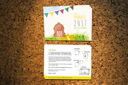 Einladungskarte: Sommerfest 2017