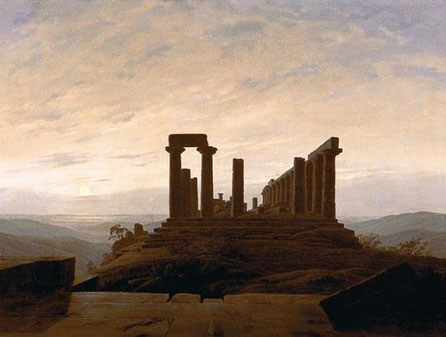"Caspar David Friedrich, ""Tempio di Giunone ad Agrigento"" (1830)"