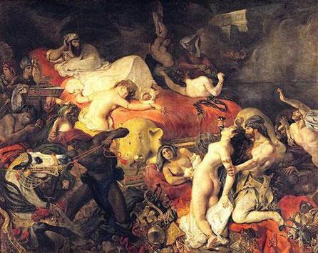 "Eugène Delacroix, ""La morte di Sardanapalo"" (1827)"