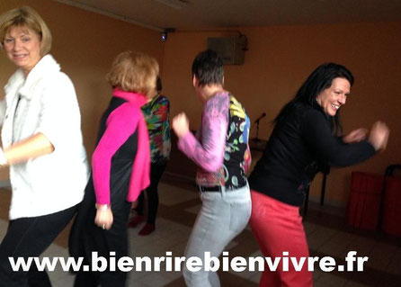 Conférence atelier yoga du rire à Frouzins - www.bienrirebienvivre.fr