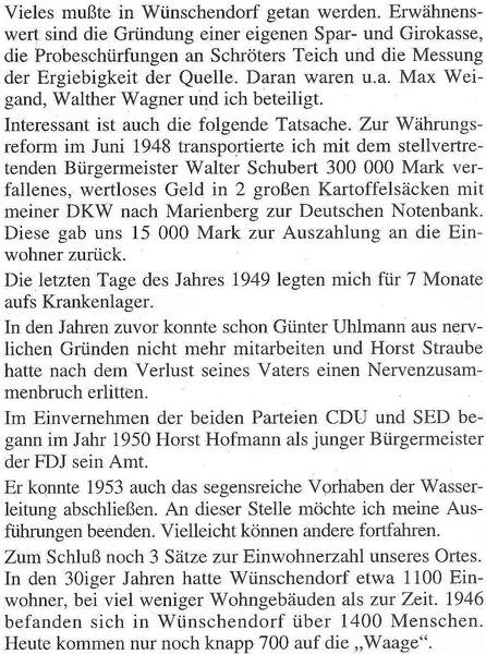 Bild: Teichler Wünschendorf Erzgebirge Wittig Bürgermeister