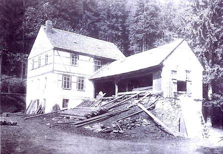 Bild: Teichler Wünschendorf Erzgebirge  Günther-Mühle in Neunzehnhain
