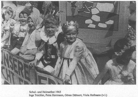 Bild: Teichler Wünschendorf Erzgebirge  Zeitungsfoto vom Festumzug 1965