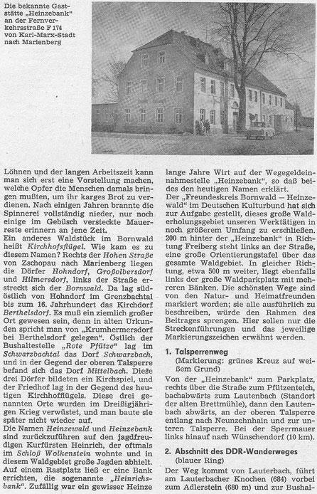 Bild: Teichler Wünschendorf Erzgebirge Bornwad Heinzewald