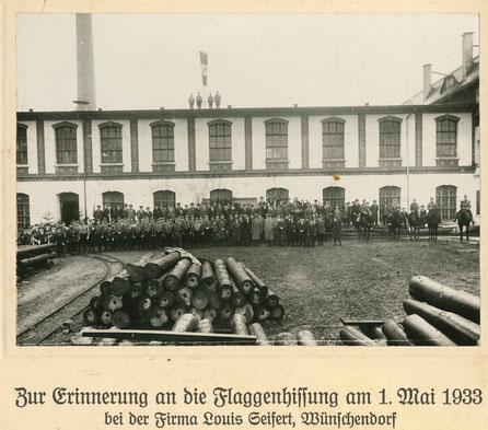 Bild: Wünschendorf Erzgebirge Seifertmühle am 1. Mai 1933
