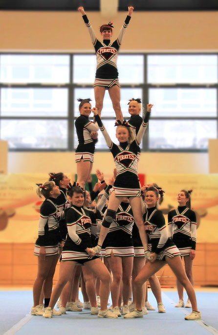 Cheerleader Pyramide