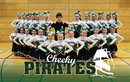 Die PeeWees der Pirates Cheerleader aus Werder