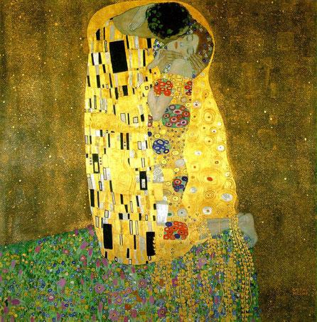 """G. Klimt, """"Il bacio"""" (1908)"""