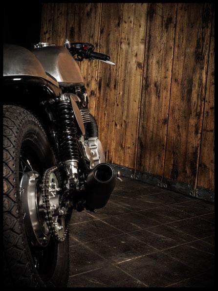 Triumph Thruxton Bonneville Old School Alu Tank Alu Heck
