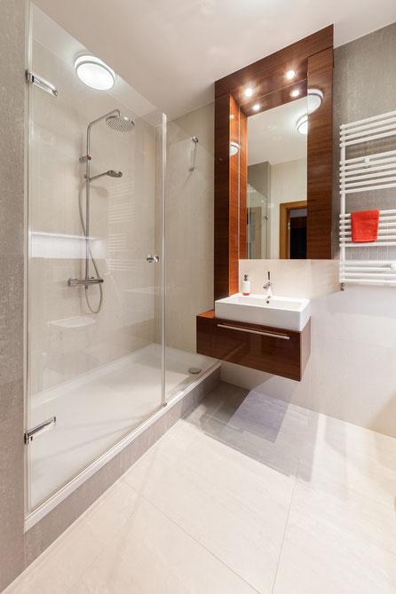 Łazienka; duży prysznic;