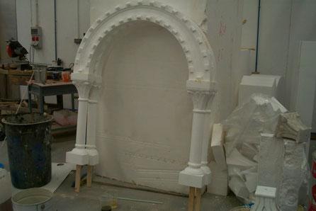 Arco, Doble Columna, Para Escena en Rodaje Cine