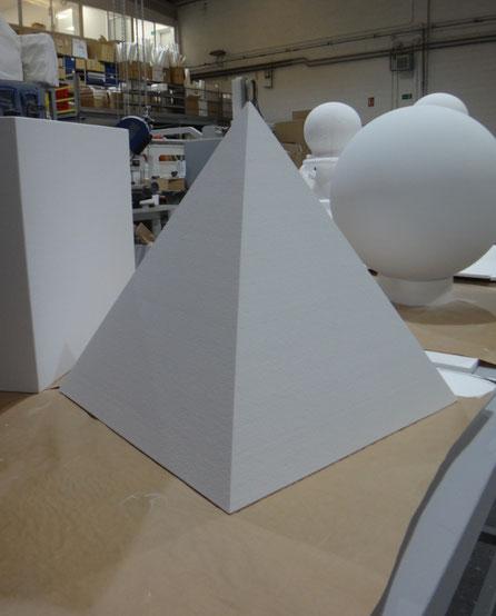 Pirámide, cubo , esfera