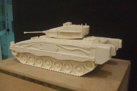 Modelo para fundición, carro de combate, Academia  de Infantería, Toledo