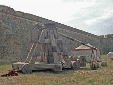 Catapulta Gigante 10 metros , para pelicula, cine, atrezzo especial