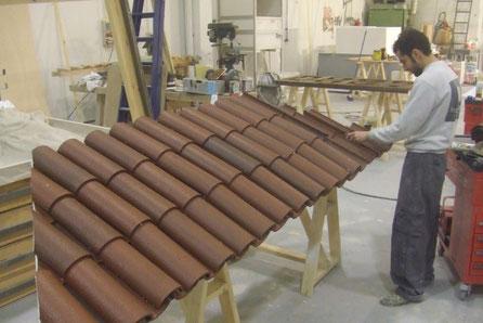 Tejadillo ligero de teja árabe para stand