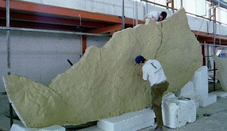 Réplica de ALTAMIRA , fabricación de secciones