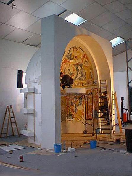 Bóveda policromada, escenografia para exposición Centro Cultural de la Villa, Madrid